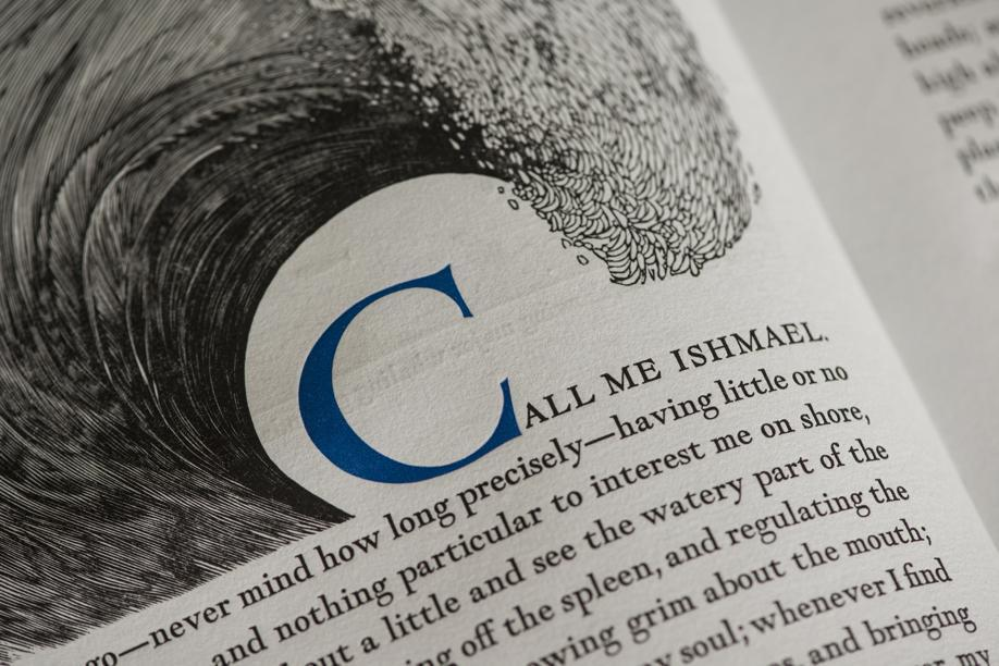 A page from Moby Dick, published by Arion Press